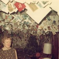 Helen and Tami Davis with the Christmas/Holiday Card Collection