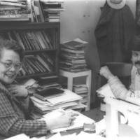YJean Chambers and Daniel Dunn in office<br /><br />